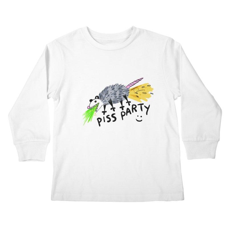 PISS PARTY Kids Longsleeve T-Shirt by Tittybats's Artist Shop