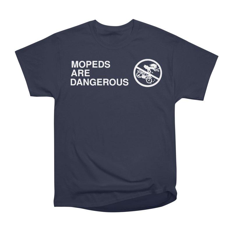 MOPEDS ARE DANGEROUS Men's Heavyweight T-Shirt by Tittybats