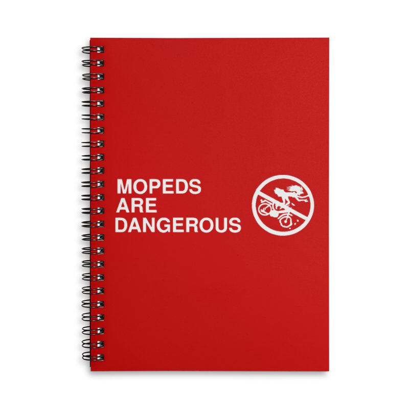 MOPEDS ARE DANGEROUS Accessories Lined Spiral Notebook by Tittybats