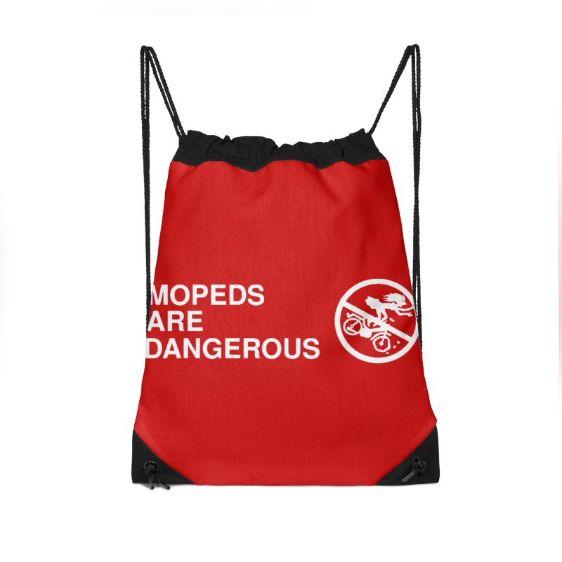 MOPEDS ARE DANGEROUS Accessories Drawstring Bag Bag by Tittybats
