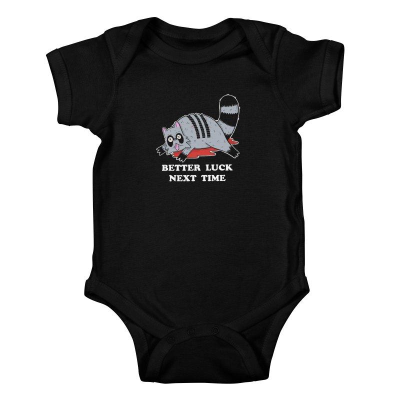 BETTER LUCK NEXT TIME Kids Baby Bodysuit by Tittybats's Artist Shop