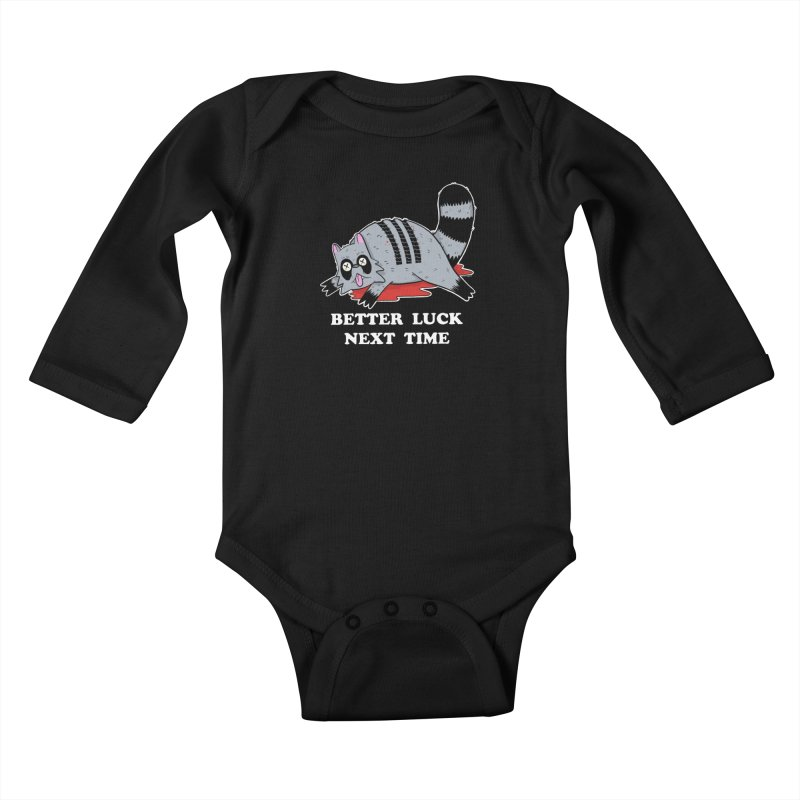 BETTER LUCK NEXT TIME Kids Baby Longsleeve Bodysuit by Tittybats