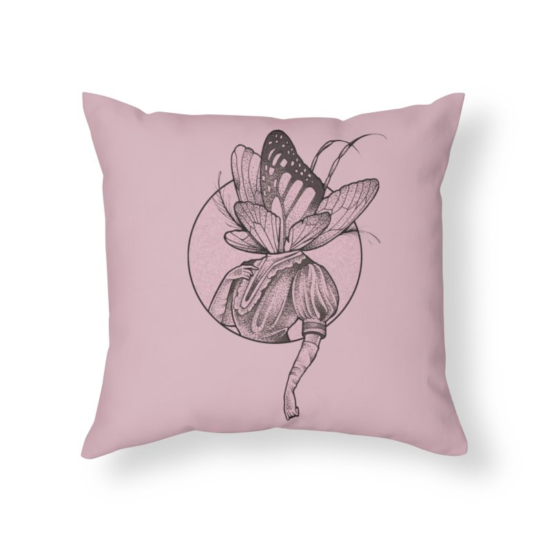 The Fair Folk in Throw Pillow by Toadhouse Editions