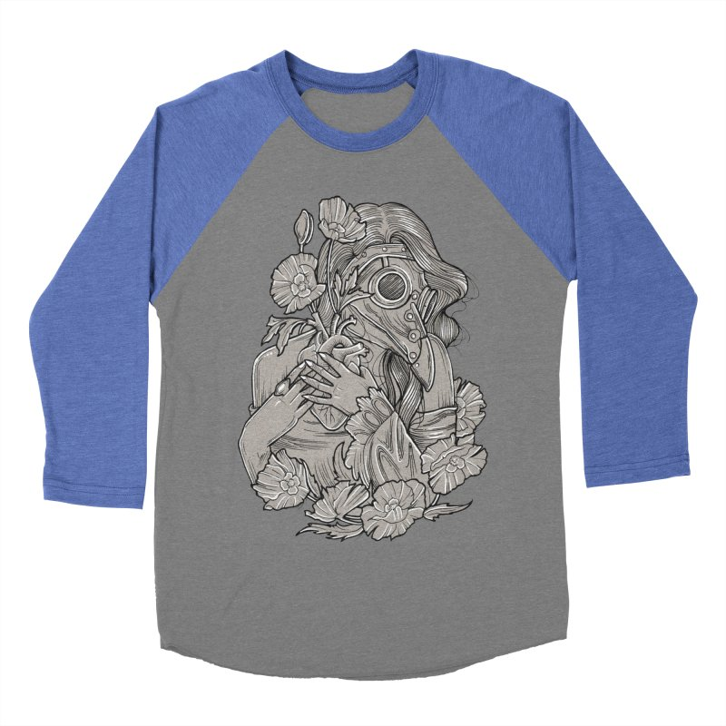 The Plague Doctor Men's Baseball Triblend Longsleeve T-Shirt by Toadhouse Editions