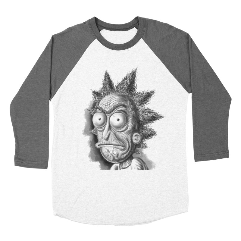 Rick Sanchez in Men's Baseball Triblend Longsleeve T-Shirt Tri-Grey Sleeves by Toadhouse Editions
