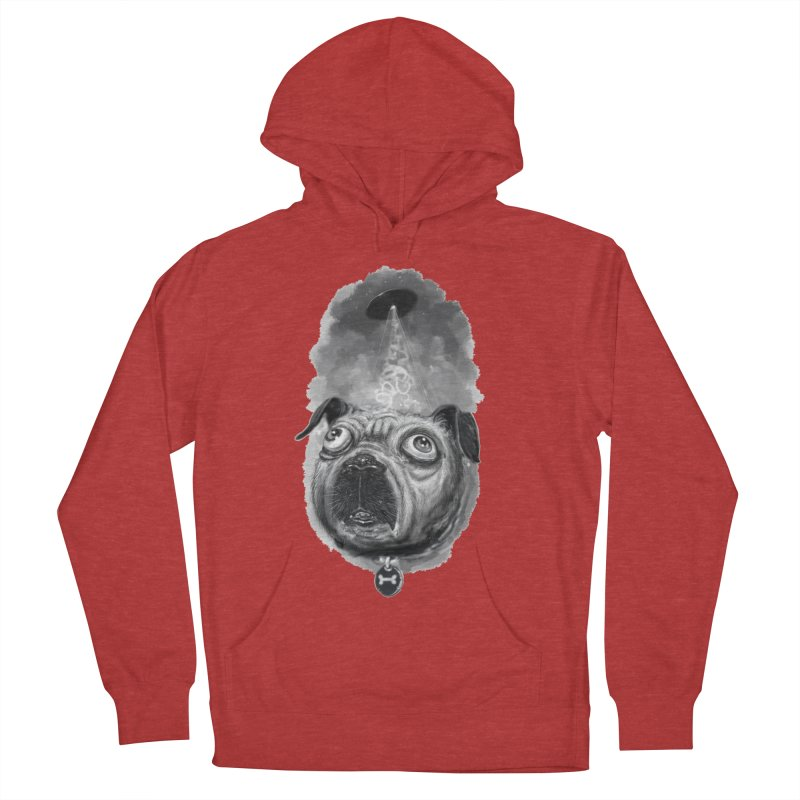 i want to pug-leave Women's French Terry Pullover Hoody by Toadhouse Editions