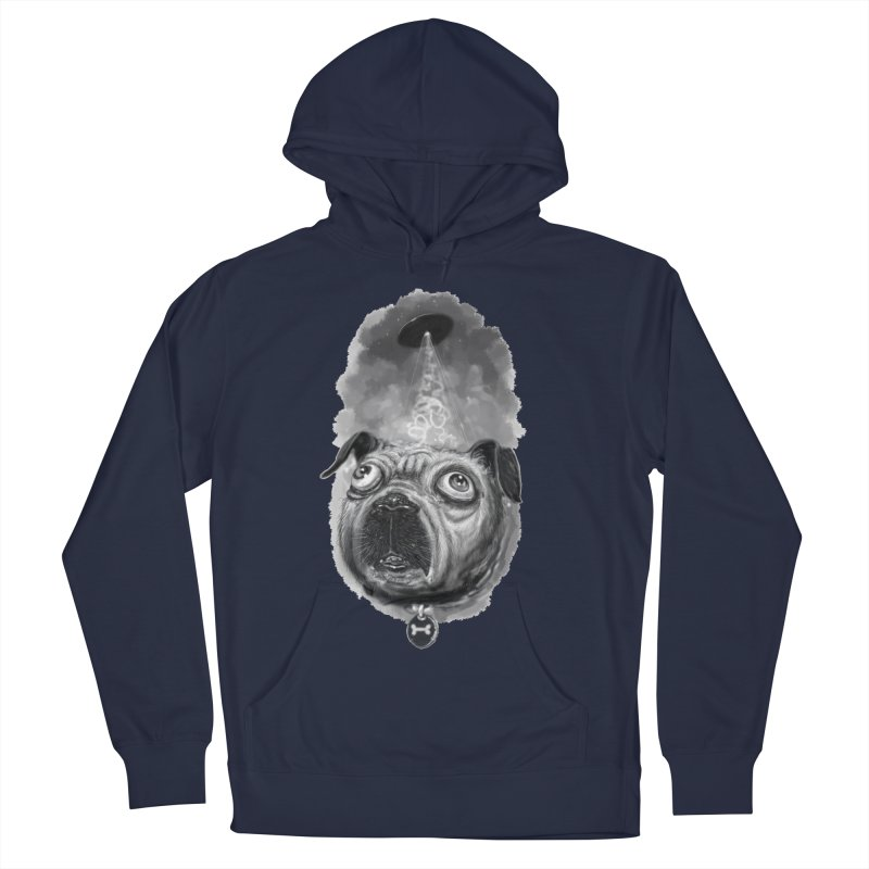 i want to pug-leave Men's French Terry Pullover Hoody by Toadhouse Editions
