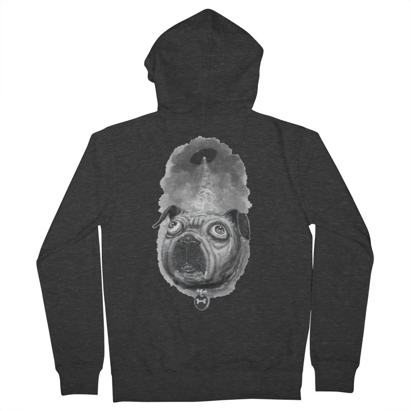 i want to pug-leave Women's French Terry Zip-Up Hoody by Toadhouse Editions