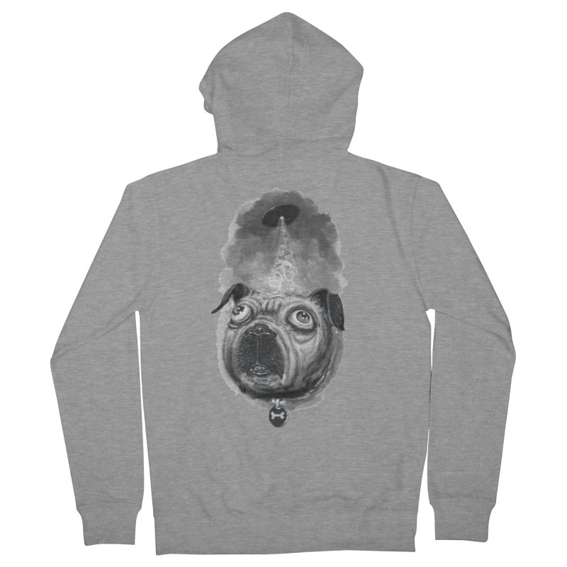 i want to pug-leave Men's French Terry Zip-Up Hoody by Toadhouse Editions