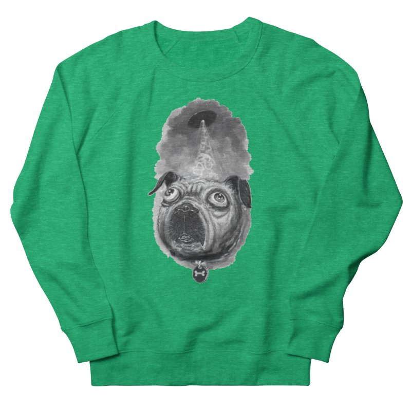 i want to pug-leave Men's French Terry Sweatshirt by Toadhouse Editions