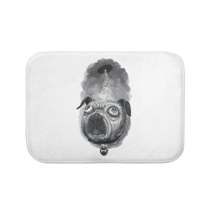 i want to pug-leave Home Bath Mat by Toadhouse Editions