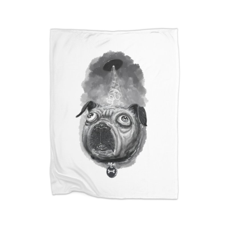 i want to pug-leave Home Fleece Blanket Blanket by Toadhouse Editions