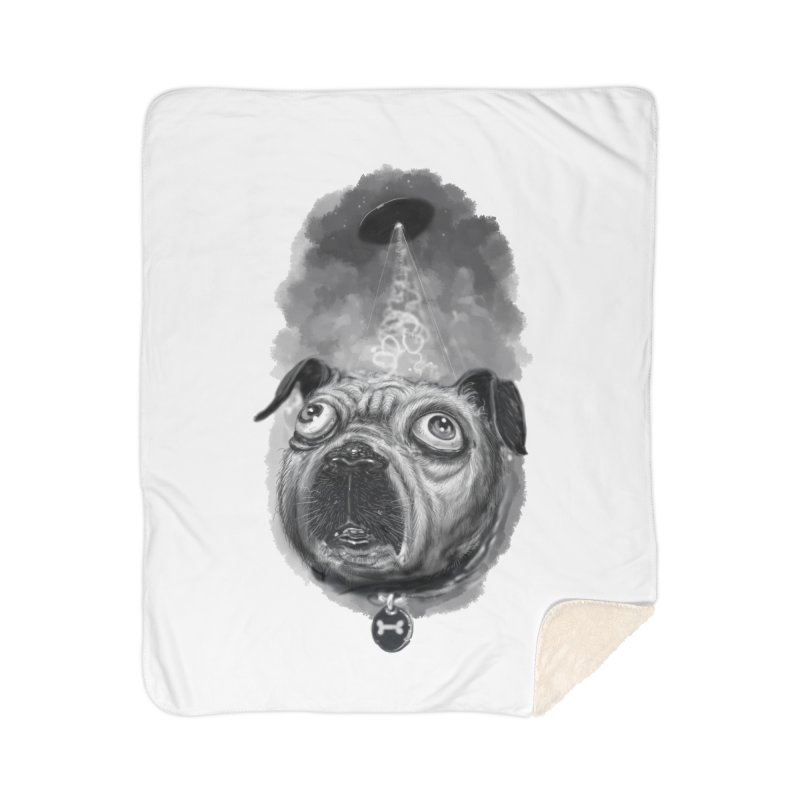 i want to pug-leave Home Sherpa Blanket Blanket by Toadhouse Editions