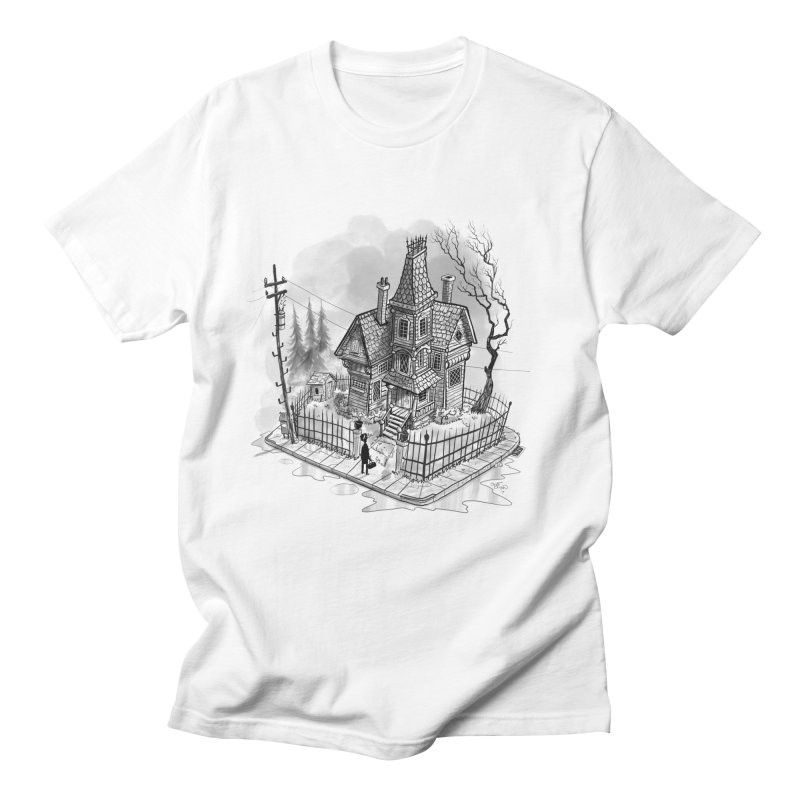 ghost house in Men's Regular T-Shirt White by Toadhouse Editions