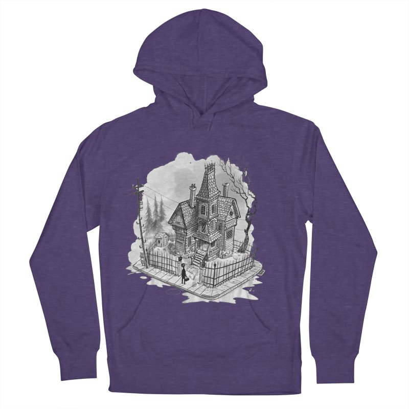 ghost house Women's French Terry Pullover Hoody by Toadhouse Editions