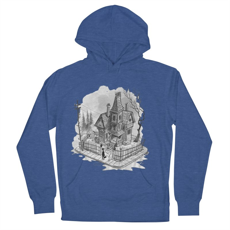 ghost house Men's French Terry Pullover Hoody by Toadhouse Editions