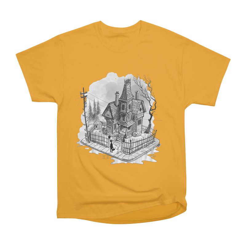 ghost house Women's Heavyweight Unisex T-Shirt by Toadhouse Editions
