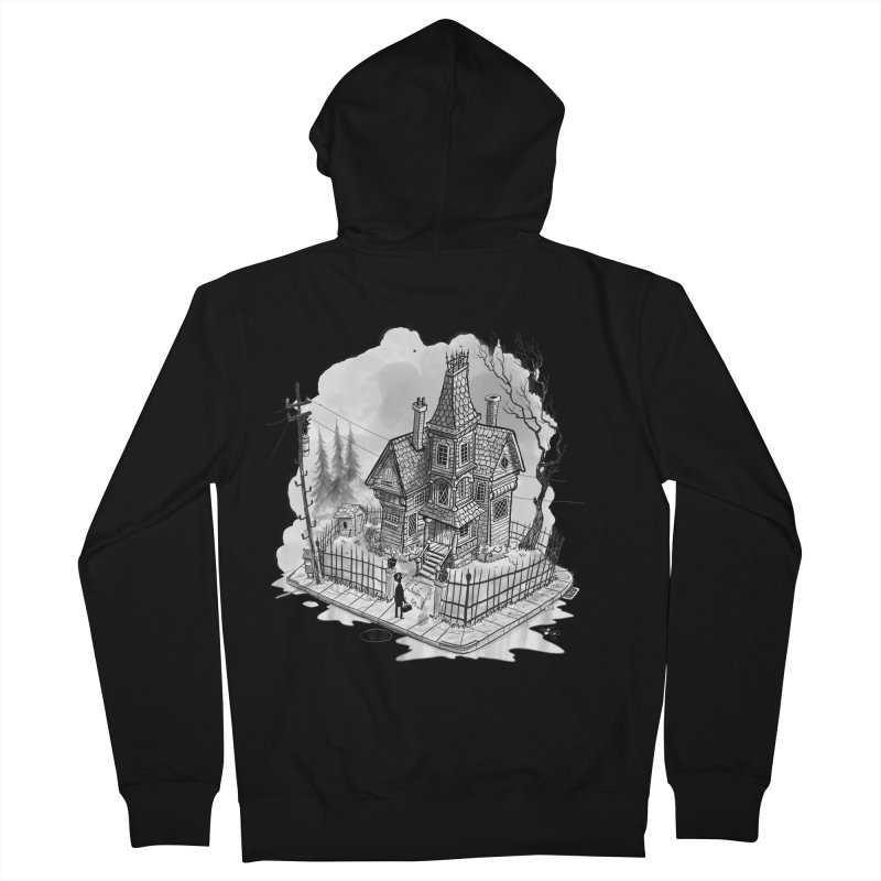ghost house Women's French Terry Zip-Up Hoody by Toadhouse Editions