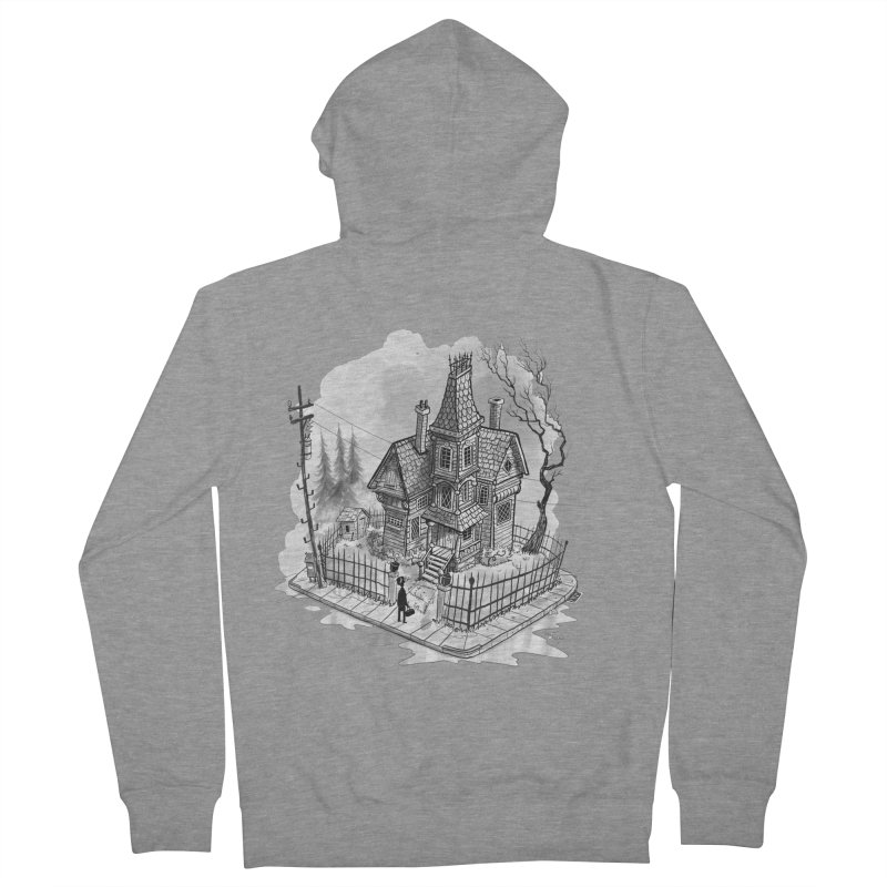ghost house Men's French Terry Zip-Up Hoody by Toadhouse Editions