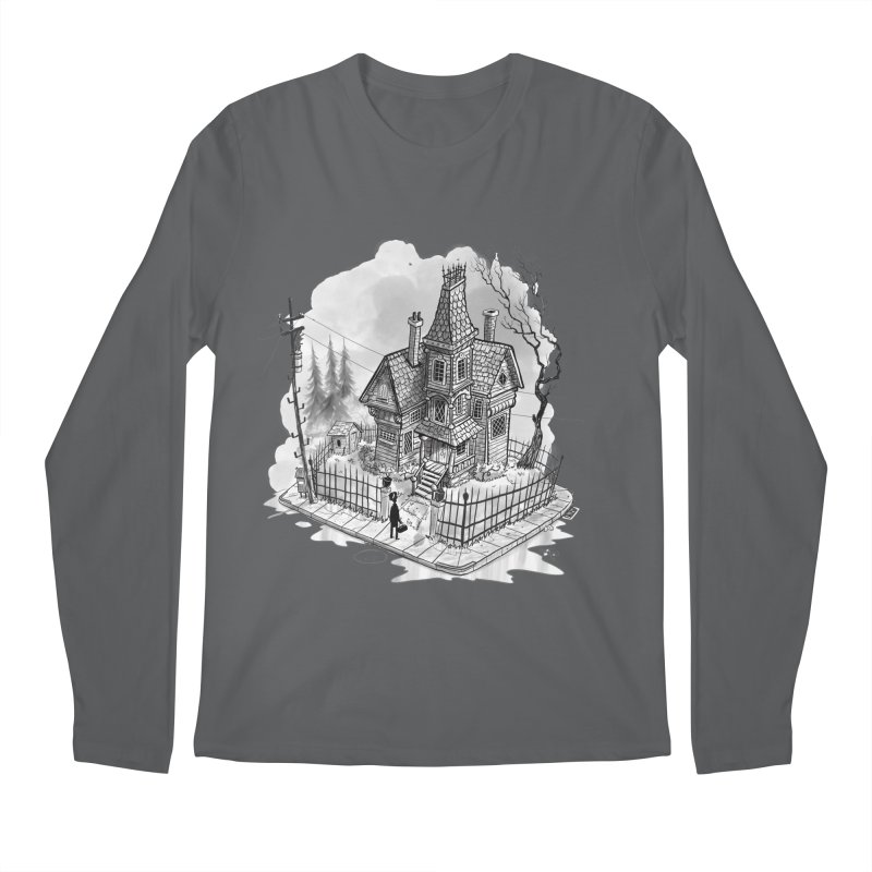 ghost house Men's Regular Longsleeve T-Shirt by Toadhouse Editions
