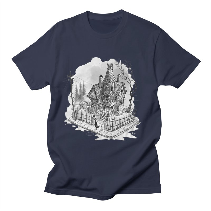 ghost house Men's Regular T-Shirt by Toadhouse Editions