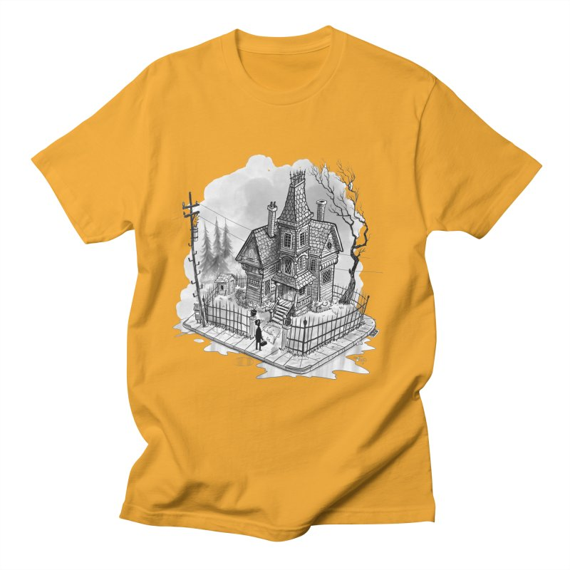 ghost house Women's Regular Unisex T-Shirt by Toadhouse Editions