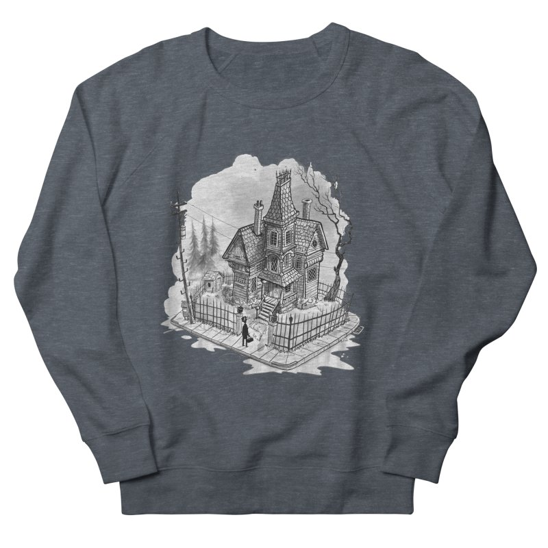 ghost house Women's French Terry Sweatshirt by Toadhouse Editions