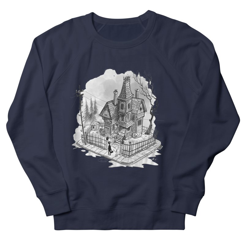 ghost house Men's French Terry Sweatshirt by Toadhouse Editions