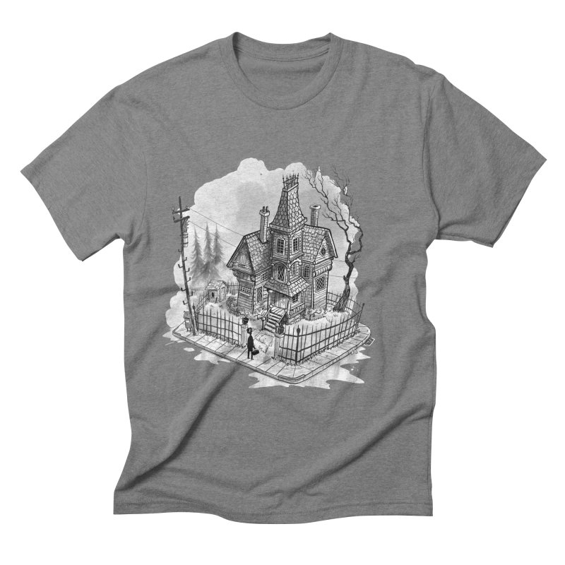 ghost house Men's Triblend T-Shirt by Toadhouse Editions