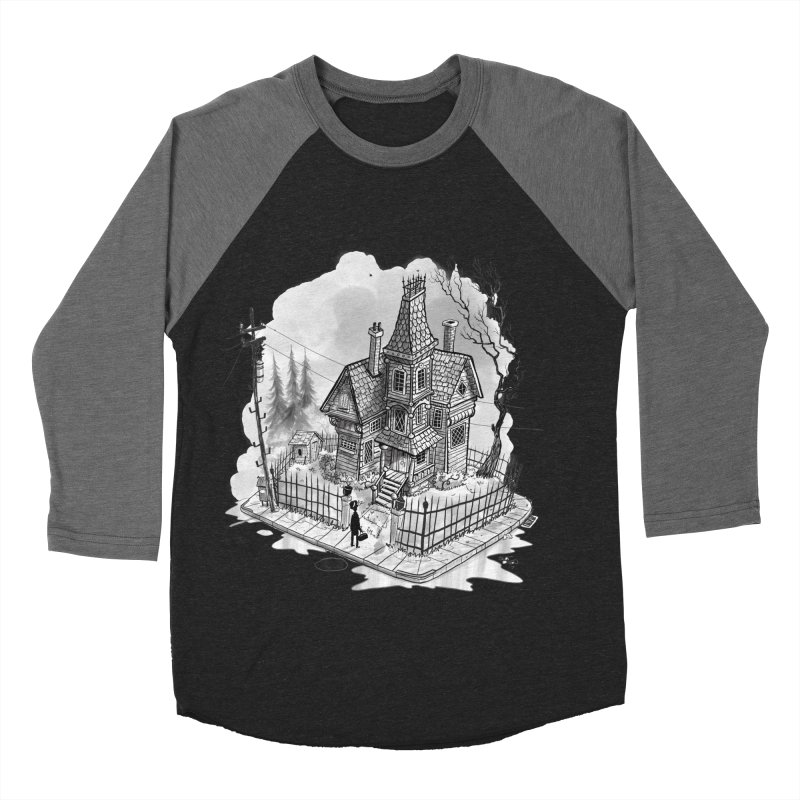 ghost house Women's Baseball Triblend Longsleeve T-Shirt by Toadhouse Editions