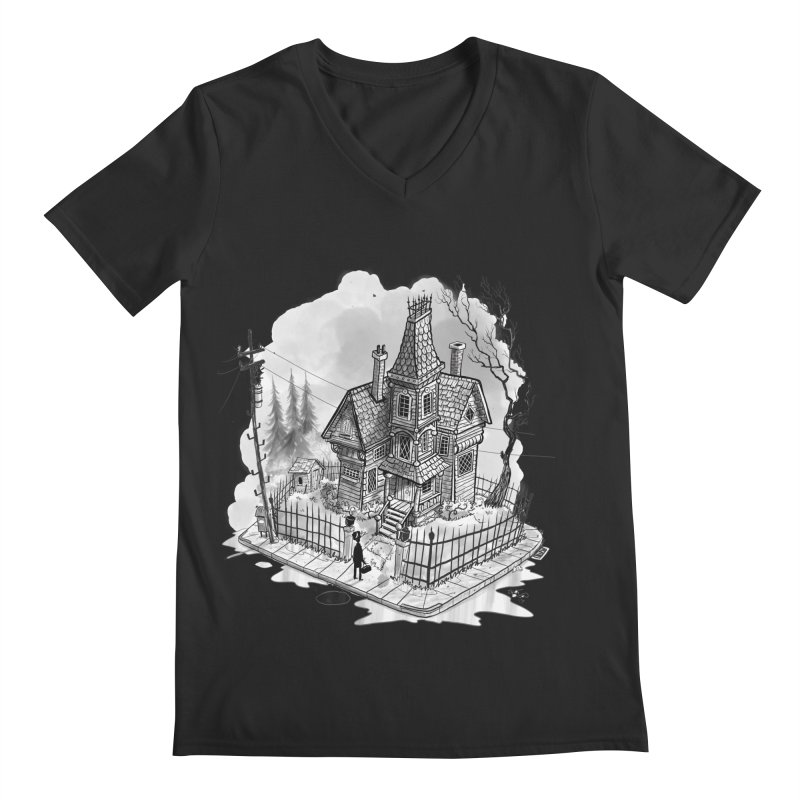 ghost house Men's Regular V-Neck by Toadhouse Editions