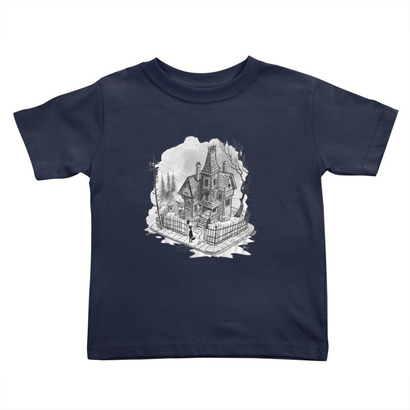ghost house Kids Toddler T-Shirt by Toadhouse Editions