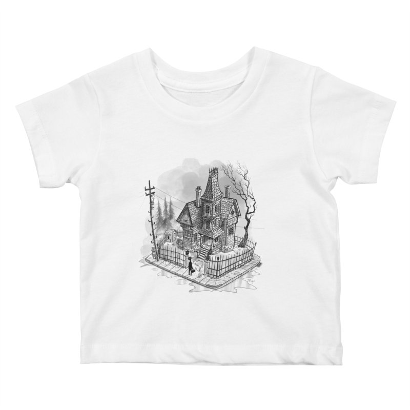 ghost house Kids Baby T-Shirt by Toadhouse Editions
