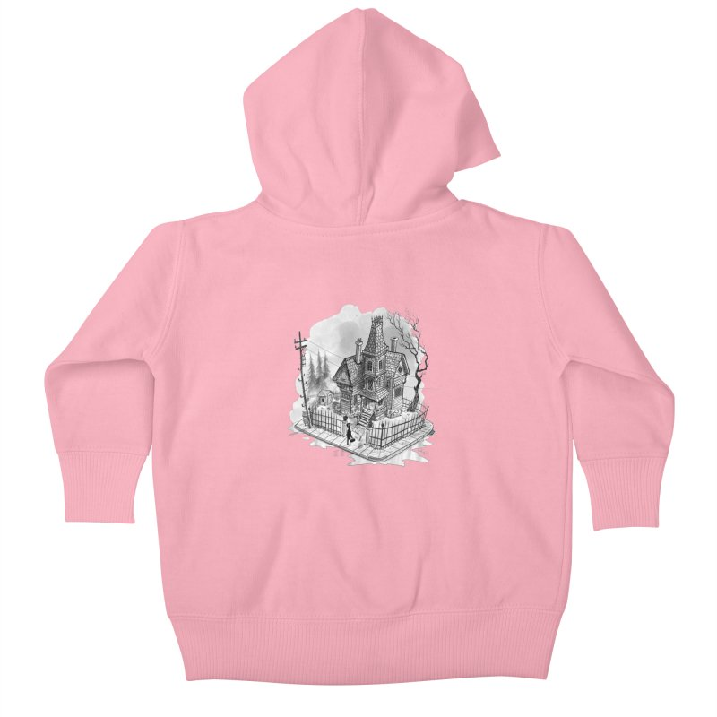 ghost house Kids Baby Zip-Up Hoody by Toadhouse Editions