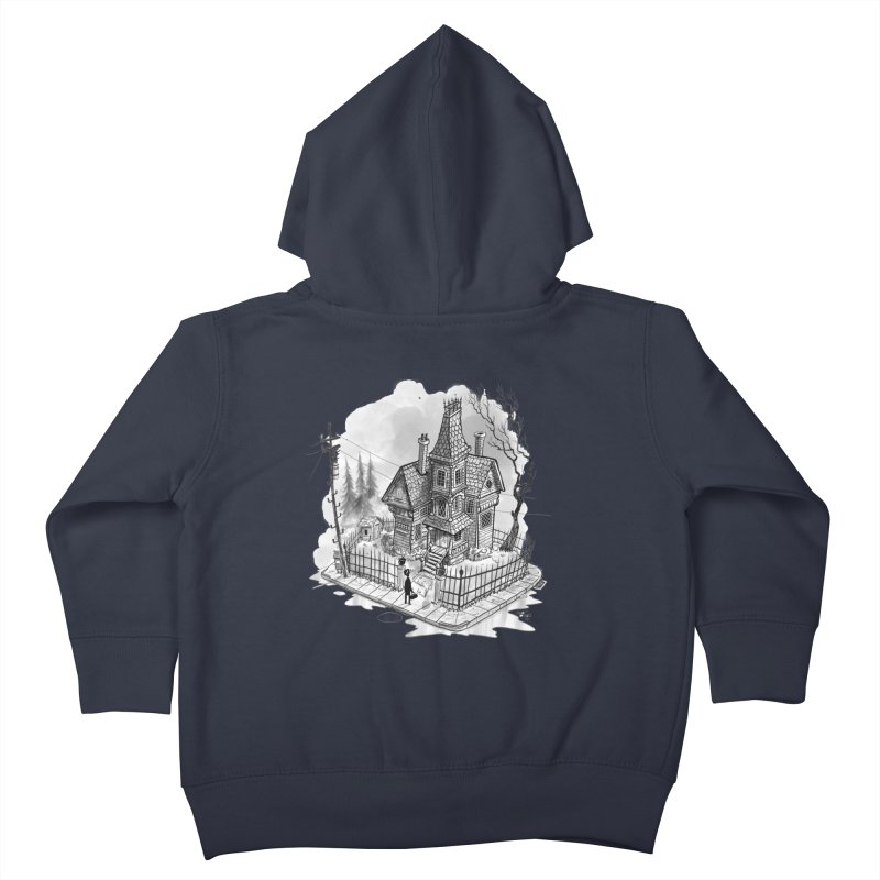 ghost house Kids Toddler Zip-Up Hoody by Toadhouse Editions