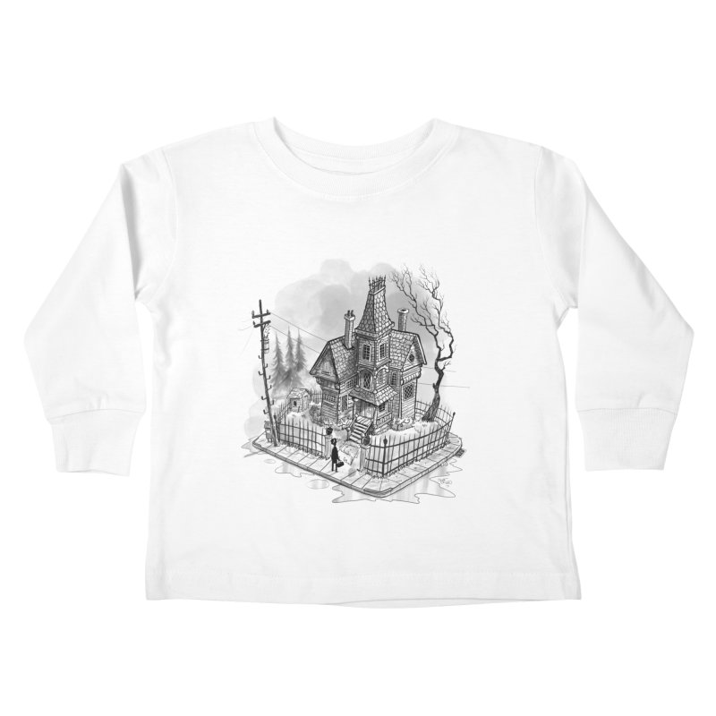ghost house Kids Toddler Longsleeve T-Shirt by Toadhouse Editions