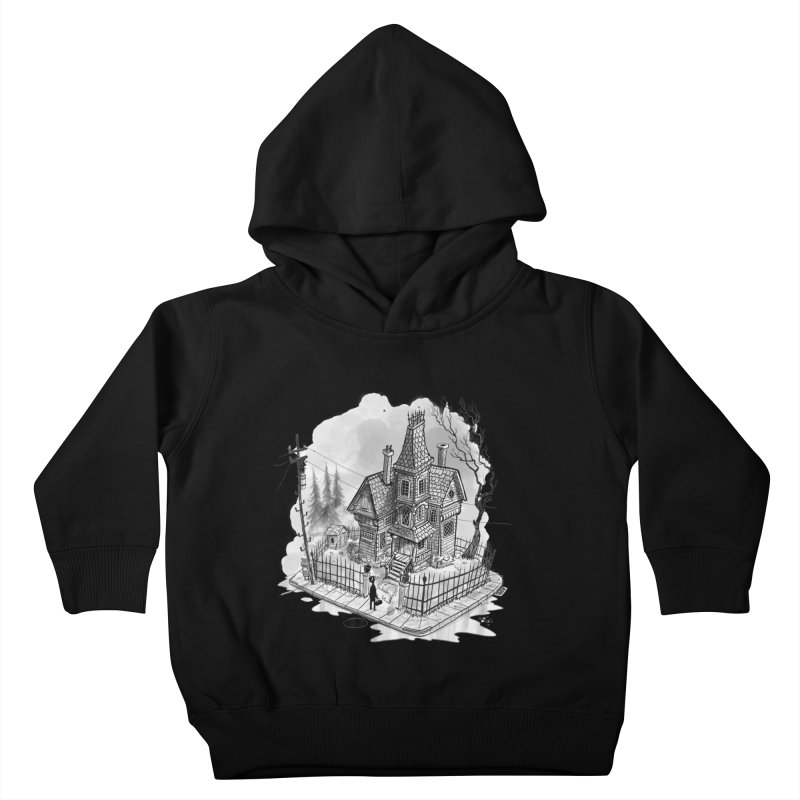 ghost house Kids Toddler Pullover Hoody by Toadhouse Editions