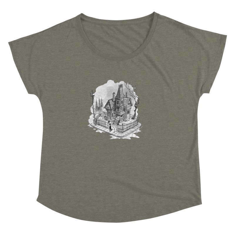 ghost house Women's Dolman Scoop Neck by Toadhouse Editions