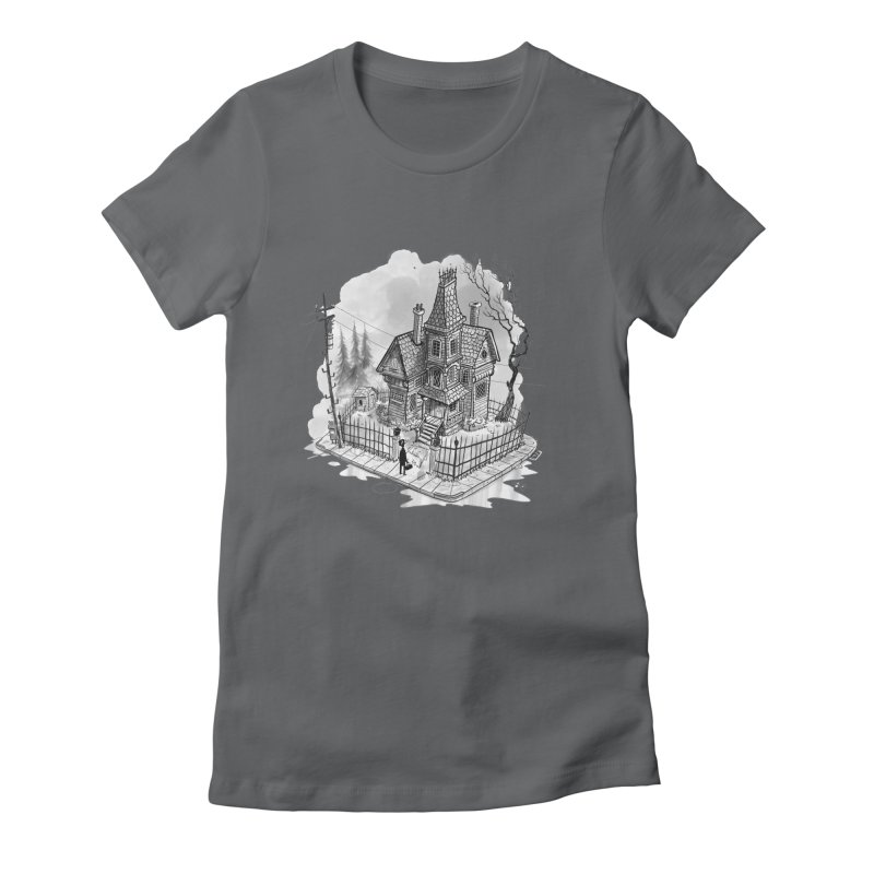 ghost house Women's Fitted T-Shirt by Toadhouse Editions