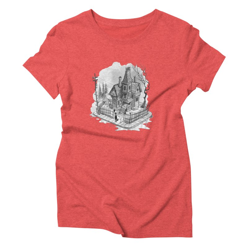 ghost house Women's Triblend T-Shirt by Toadhouse Editions