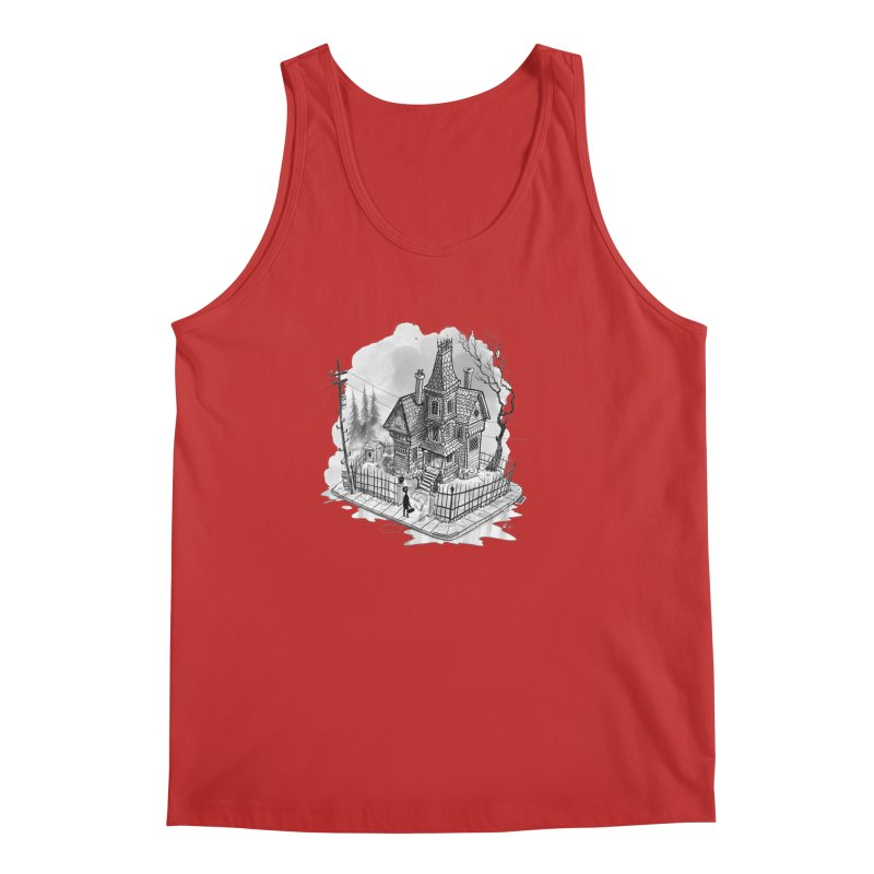 ghost house Men's Regular Tank by Toadhouse Editions