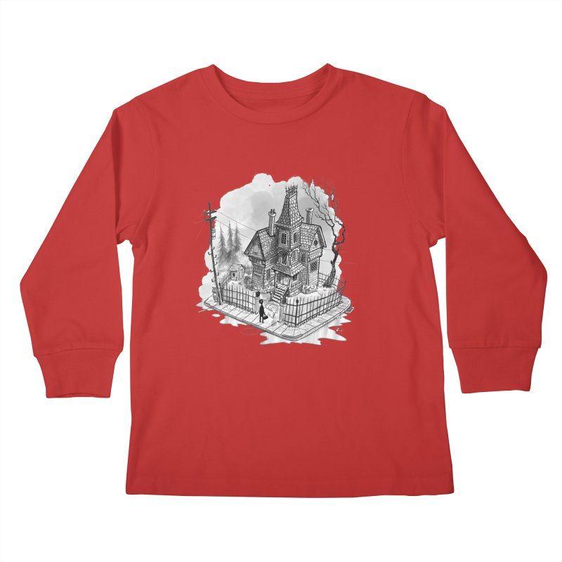 ghost house Kids Longsleeve T-Shirt by Toadhouse Editions