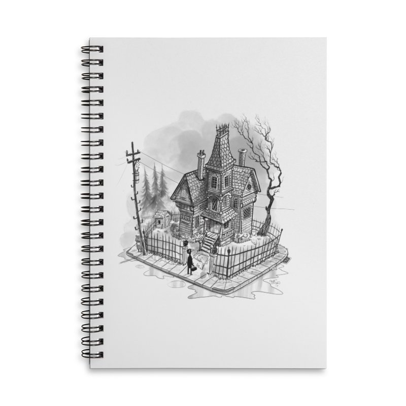 ghost house Accessories Lined Spiral Notebook by Toadhouse Editions
