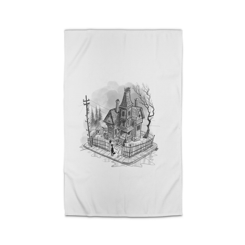 ghost house Home Rug by Toadhouse Editions