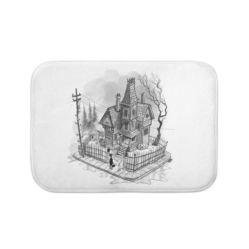 ghost house Home Bath Mat by Toadhouse Editions