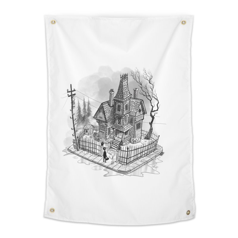ghost house Home Tapestry by Toadhouse Editions