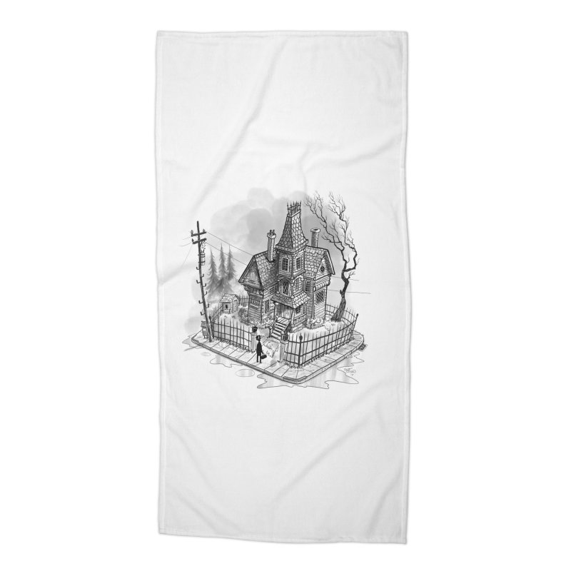 ghost house Accessories Beach Towel by Toadhouse Editions