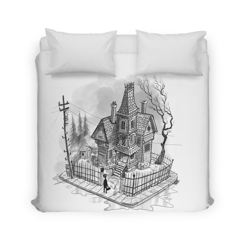 ghost house Home Duvet by Toadhouse Editions