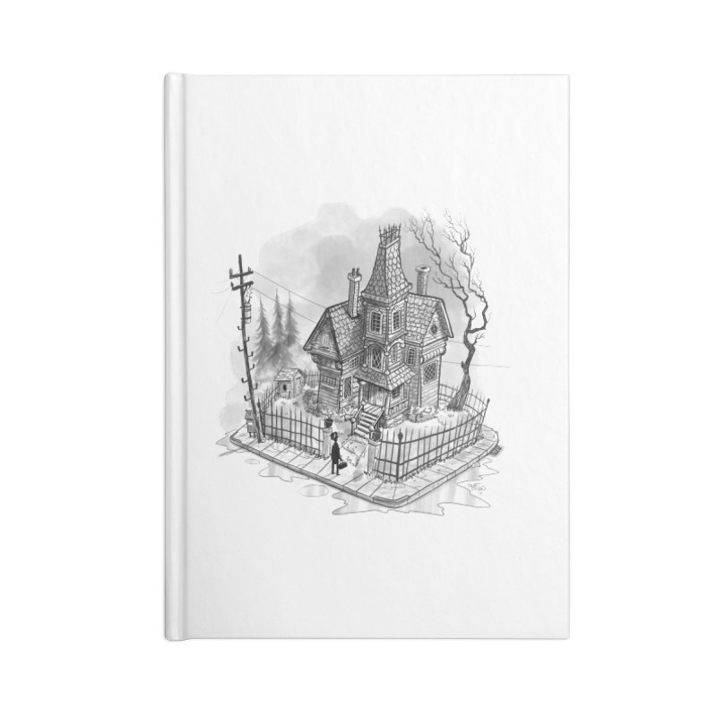 ghost house Accessories Blank Journal Notebook by Toadhouse Editions