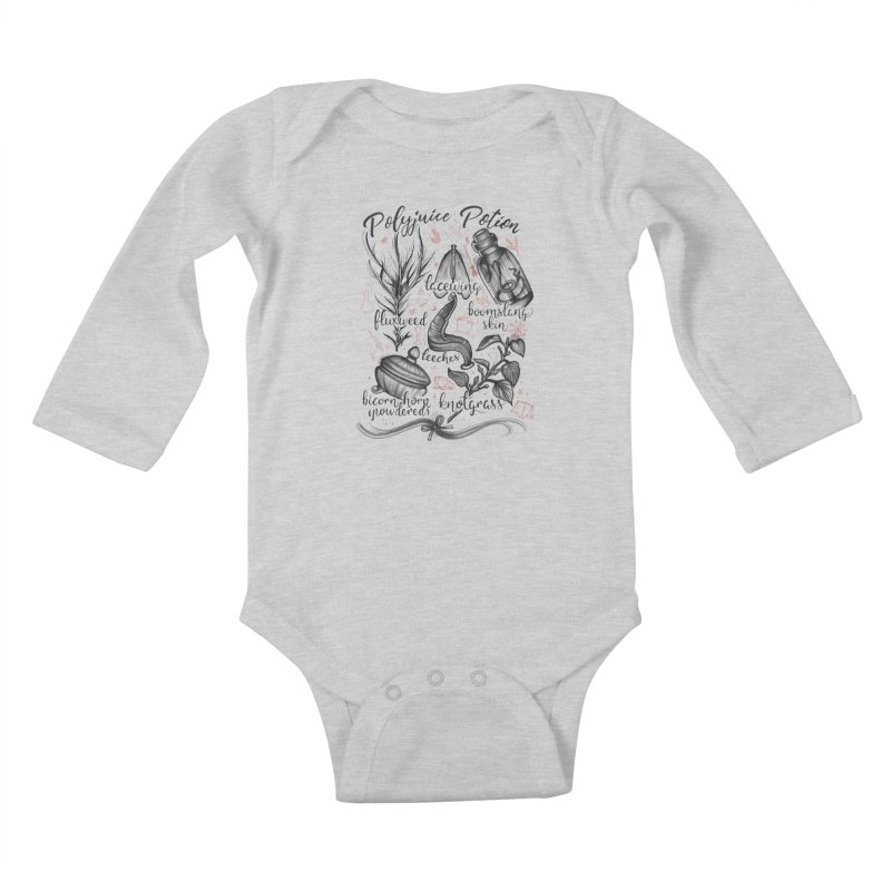 Polyjuice Potion Kids Baby Longsleeve Bodysuit by Toadhouse Editions
